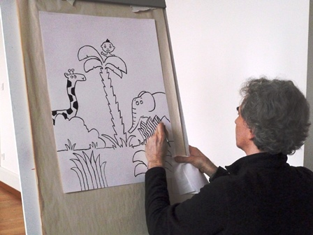 Cyril dessinant